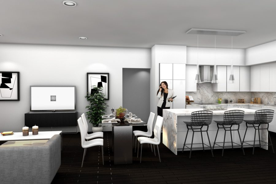 111 First Delray Living Room