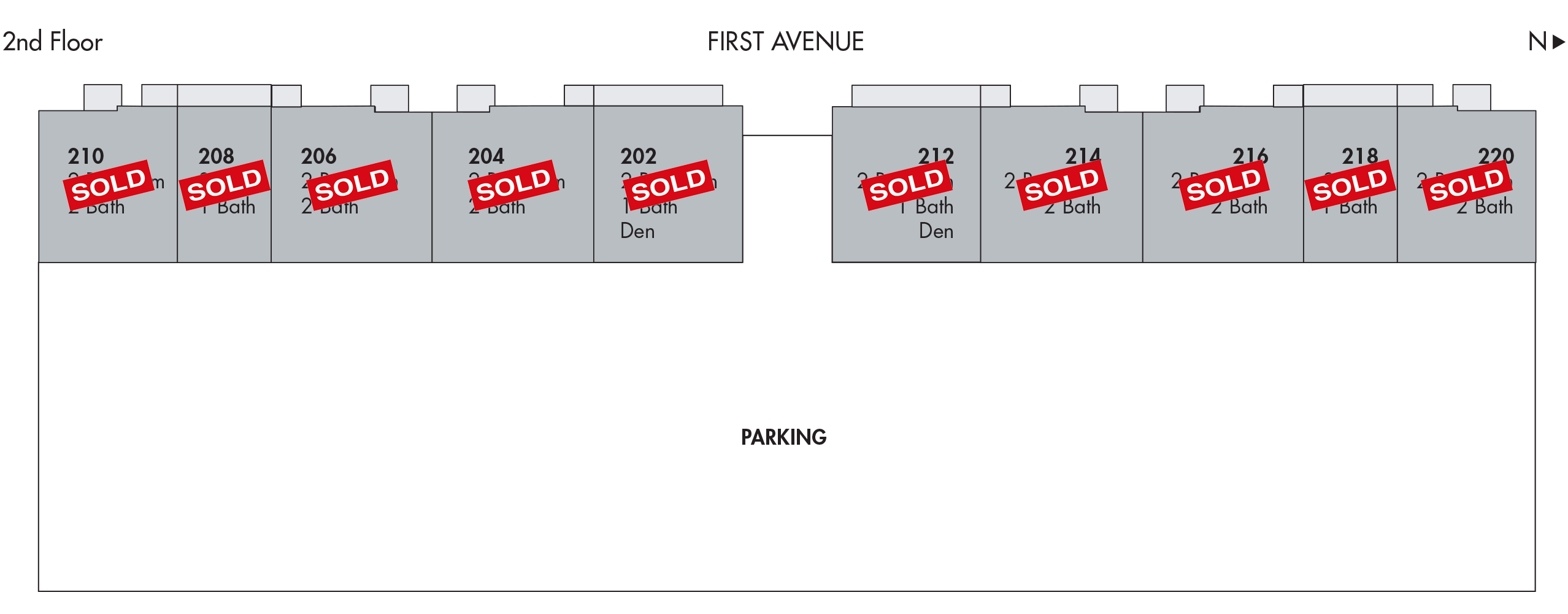 hottest new condo in Delray - 111 First Delray 2nd floor sold out