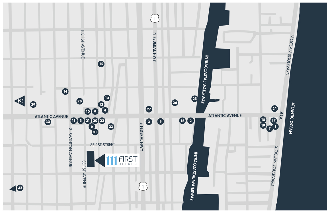 111 First Delray Location Map