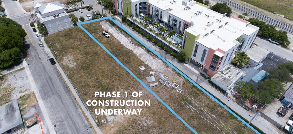 111 First Delray first phase of construction begins